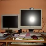 links: der kleine Monitor für den großen Server