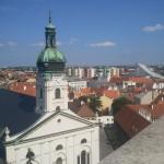 Blick vom Turm der Bischhofsburg auf die Kathedrale