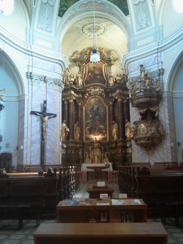 Karmeliterkirche Blick längs