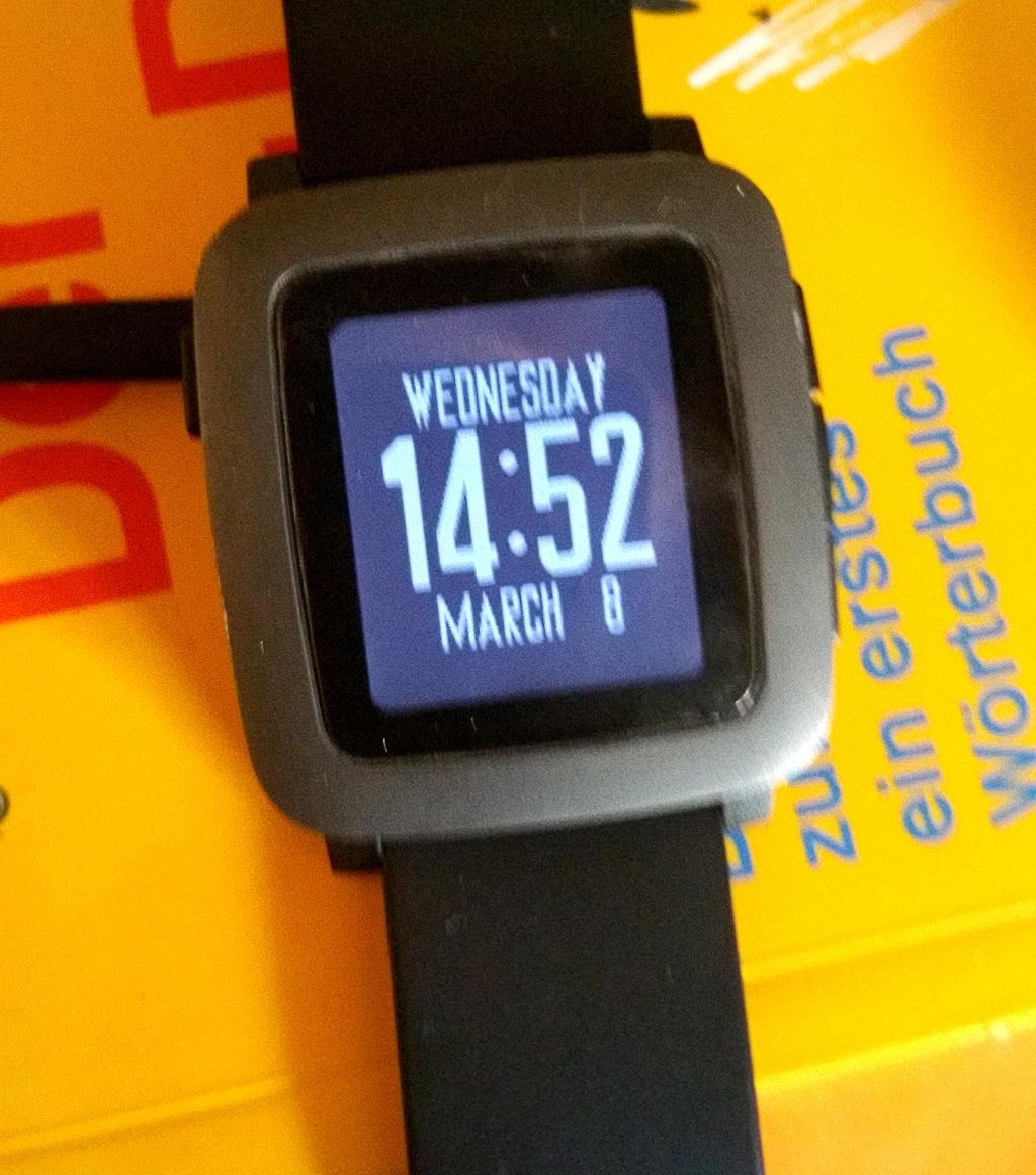 digitale Anzeige der Zeit