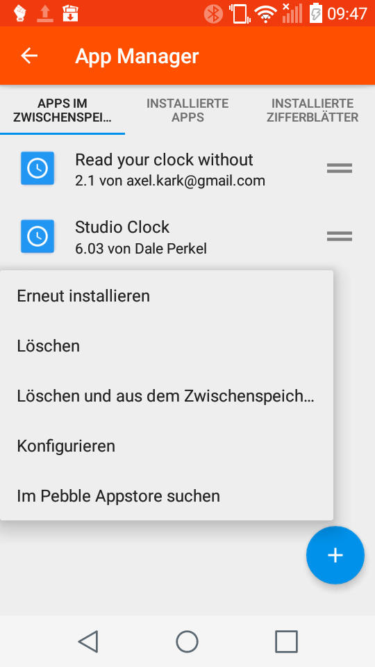 Screeenshot vom Appmanager